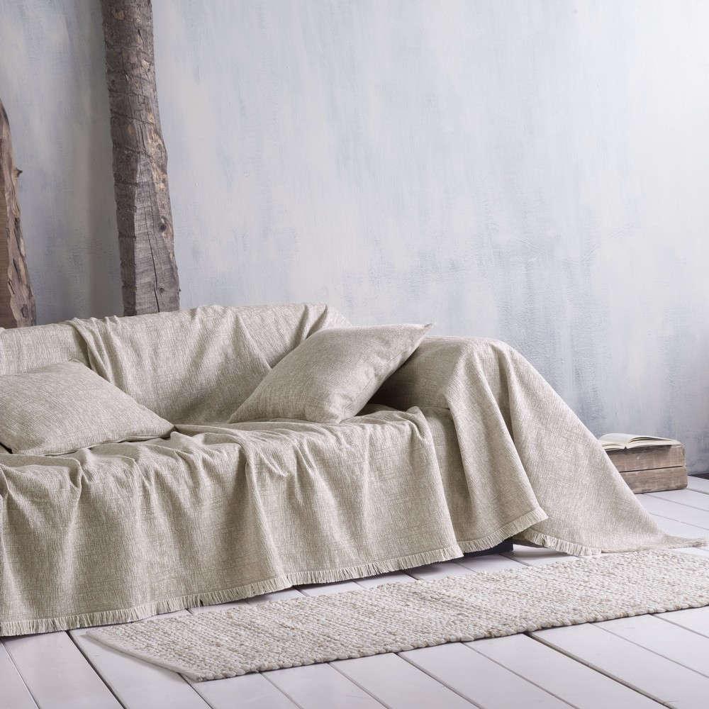 Μαξιλαροθήκη Διακοσμητική Tilbury 01 Beige Ρυθμός 40Χ40 Βαμβάκι-Polyester