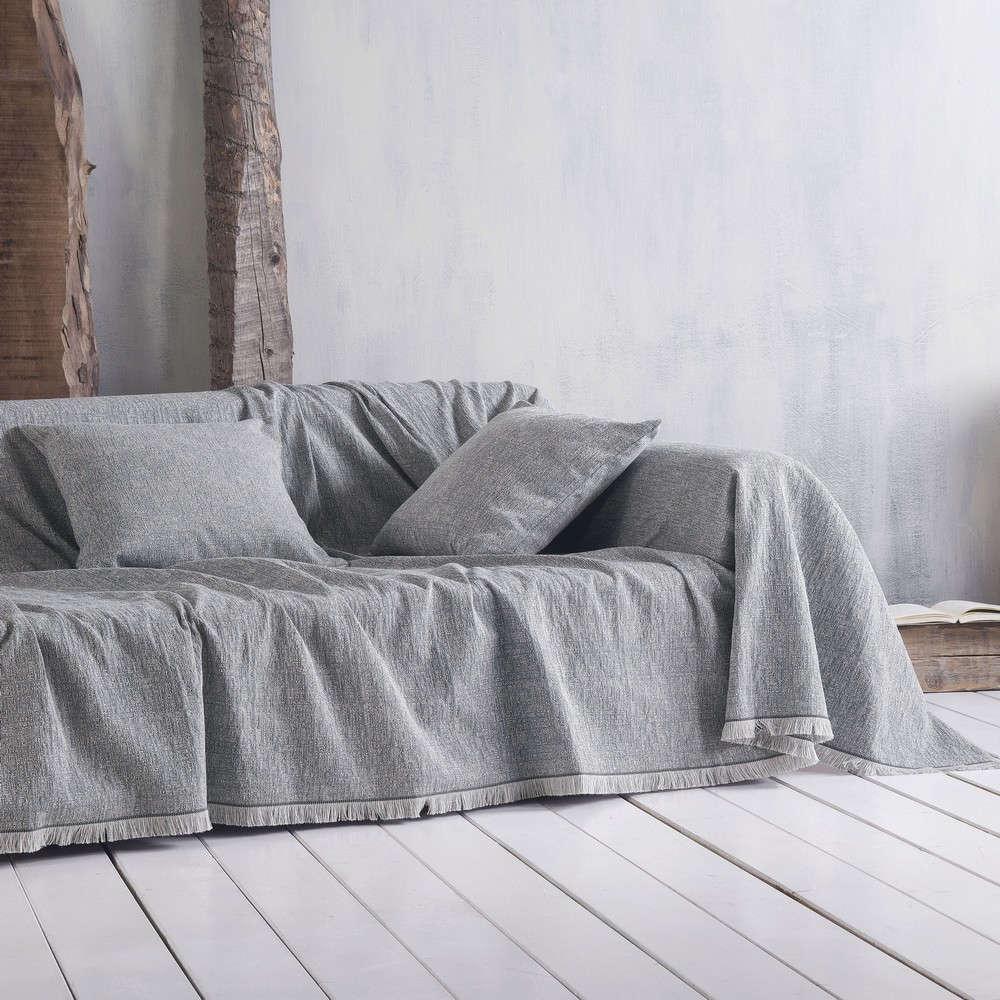 Μαξιλαροθήκη Διακοσμητική Tilbury 02 Grey Ρυθμός 40Χ40 Βαμβάκι-Polyester