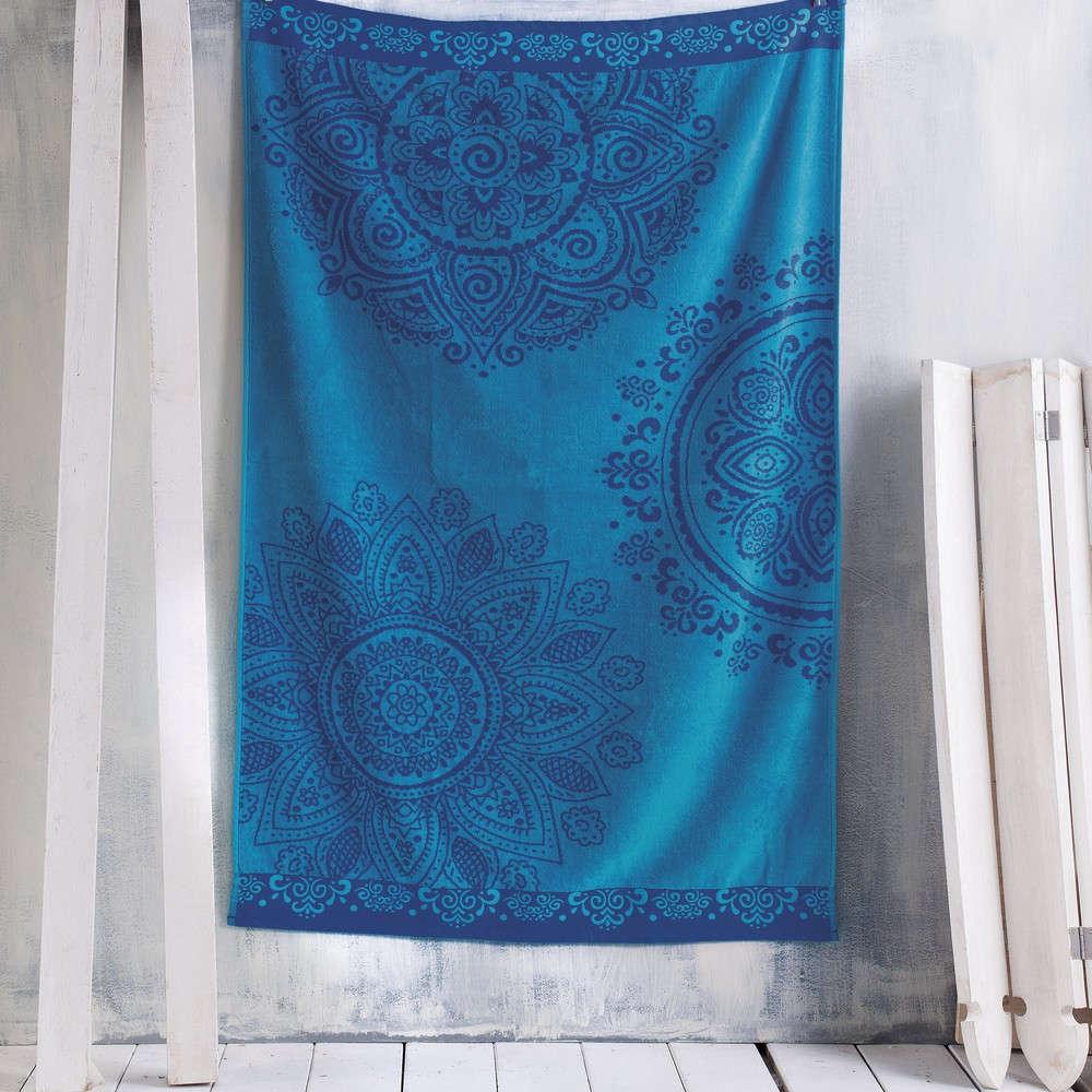 Πετσέτα Θαλάσσης Kali Blue Ρυθμός Θαλάσσης 85x165cm