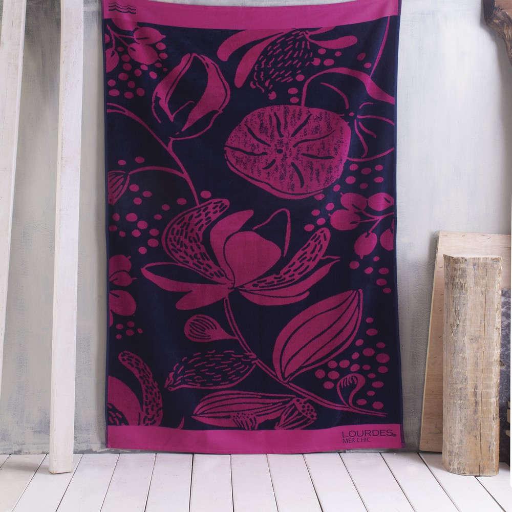 Πετσέτα Θαλάσσης Tropix Fuchsia Ρυθμός Θαλάσσης 85x165cm