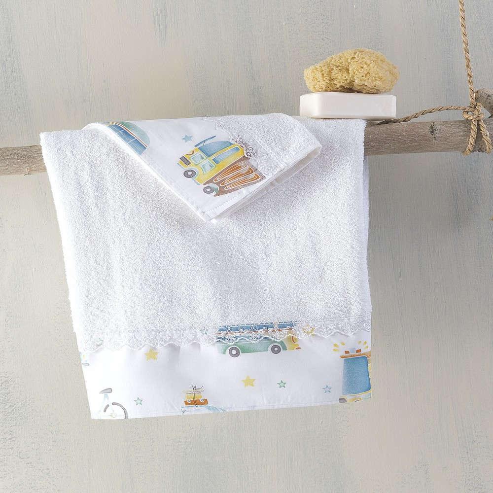 Πετσέτες Βρεφικές Σετ 2τμχ Go Baby Go Multi Ρυθμός Σετ Πετσέτες 70x140cm