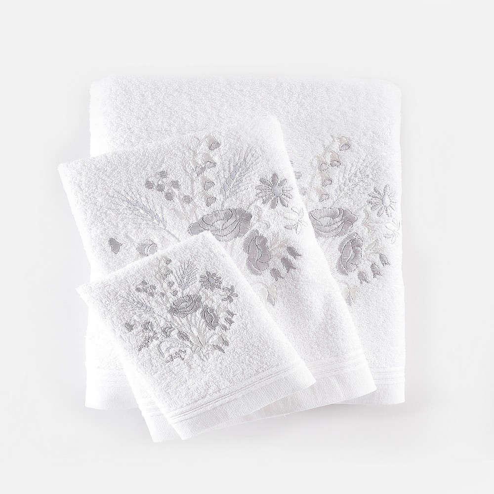 Πετσέτες Σετ 3τμχ Sabine White Ρυθμός Σετ Πετσέτες 80x150cm