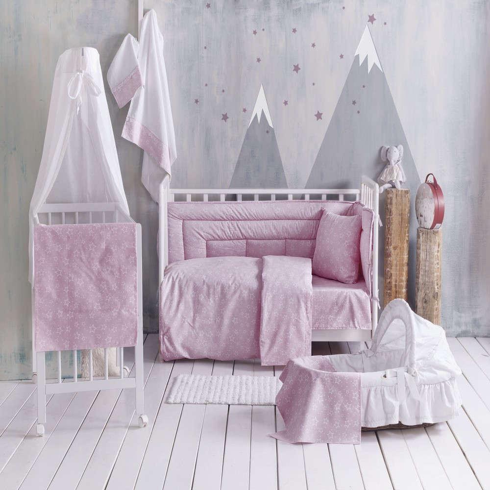 Σεντόνια Βρεφικά Σετ 3τμχ Bright Baby Pink Ρυθμός Κούνιας 120x160cm