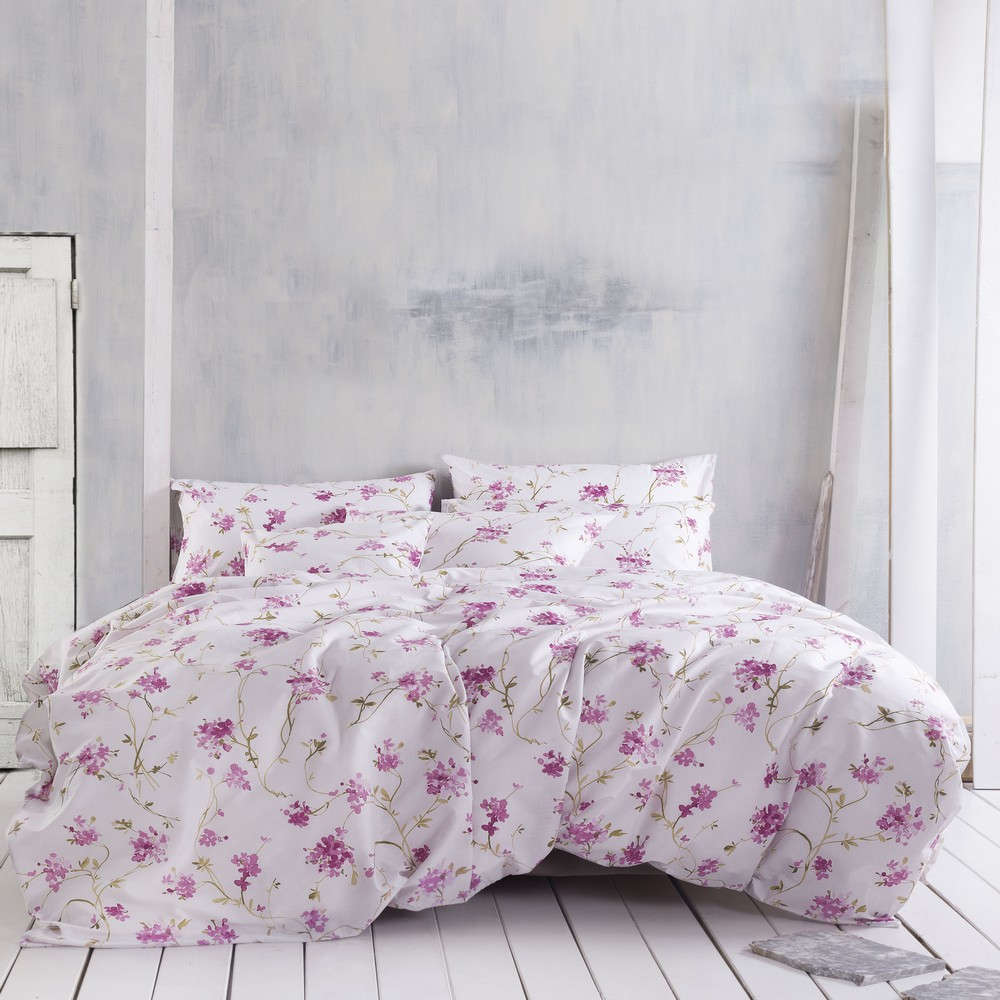 Σεντόνια Με Λάστιχο Σετ 4τμχ Next Colette Pink Ρυθμός Υπέρδιπλo 165x205cm