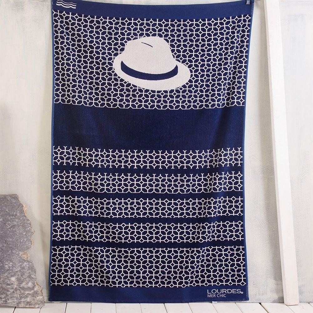 Πετσέτα Θαλάσσης Panama Blue Ρυθμός Θαλάσσης 100x180cm