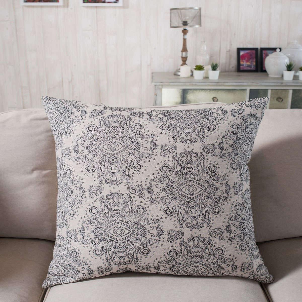 Μαξιλαροθήκη Διακοσμητική Firenze 09 Dark Grey Teoran 45X45 Βαμβάκι-Polyester