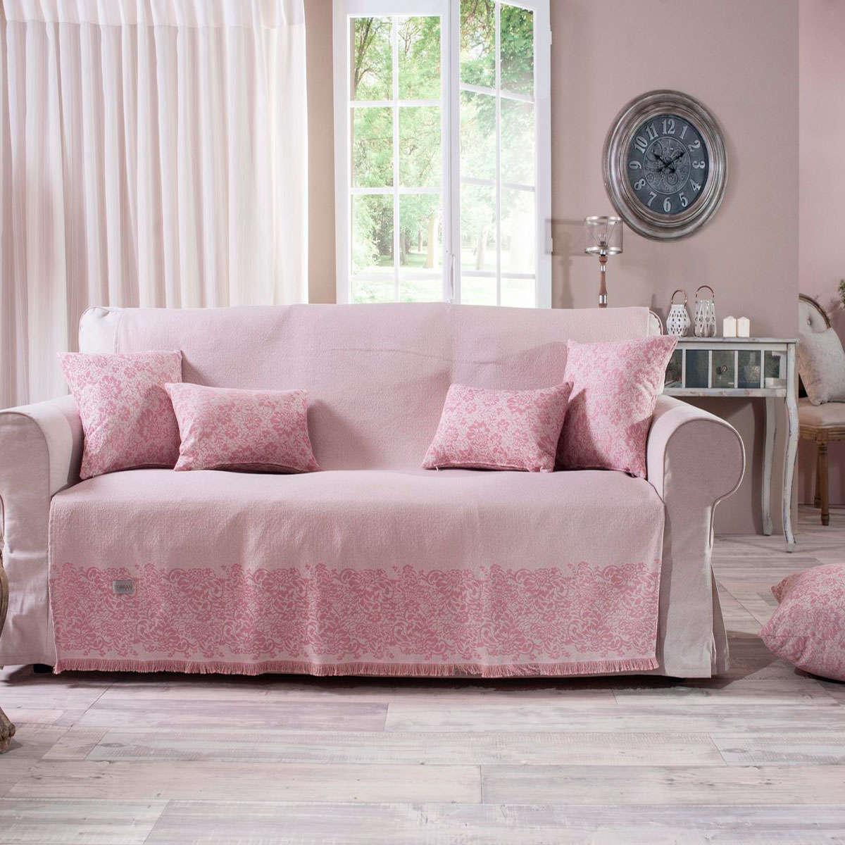 Ριχτάρι Bergamo 06 Pink Teoran Τριθέσιο 180x300cm