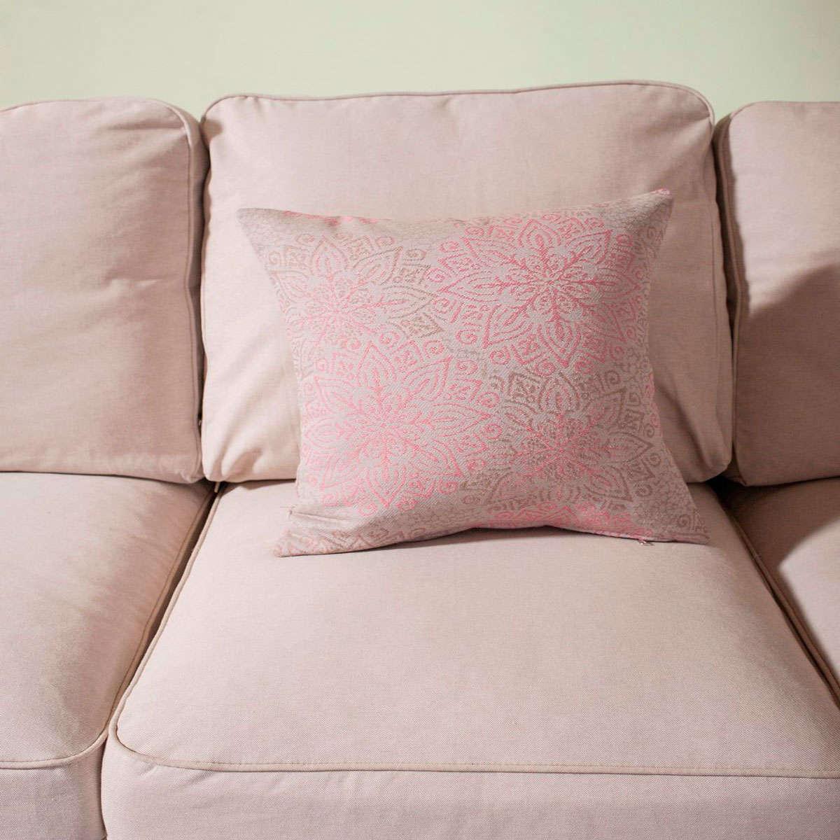 Μαξιλαροθήκη Διακοσμητική Matera 06 Pink Teoran 45X45 Βαμβάκι-Polyester