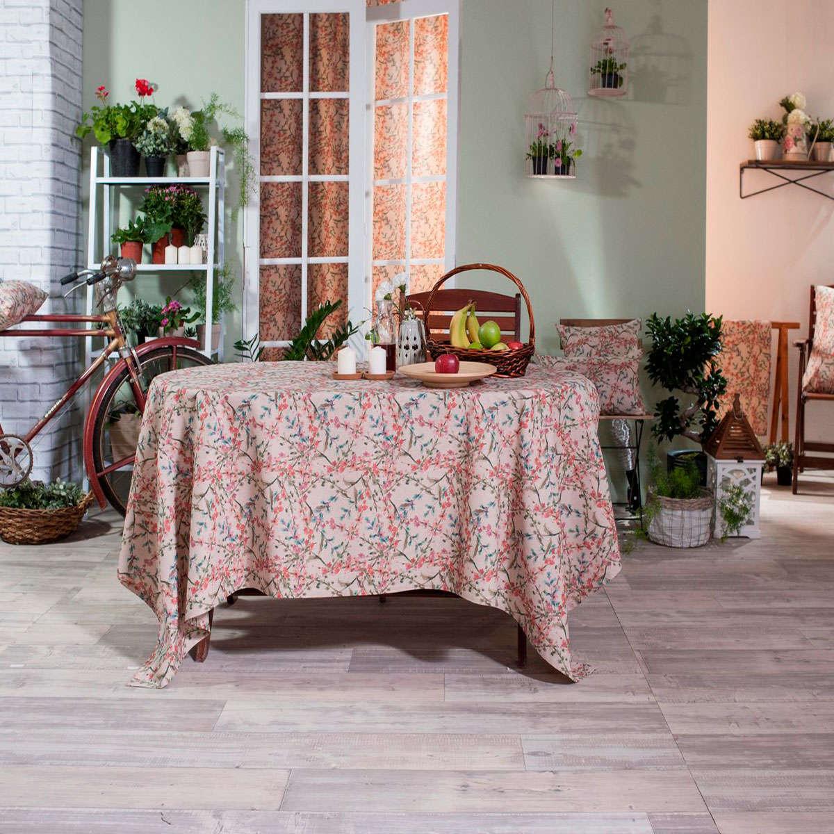 Μαξιλαροθήκη Διακοσμητική Δαπέδου Rimini Teoran 60X60 Βαμβάκι-Polyester