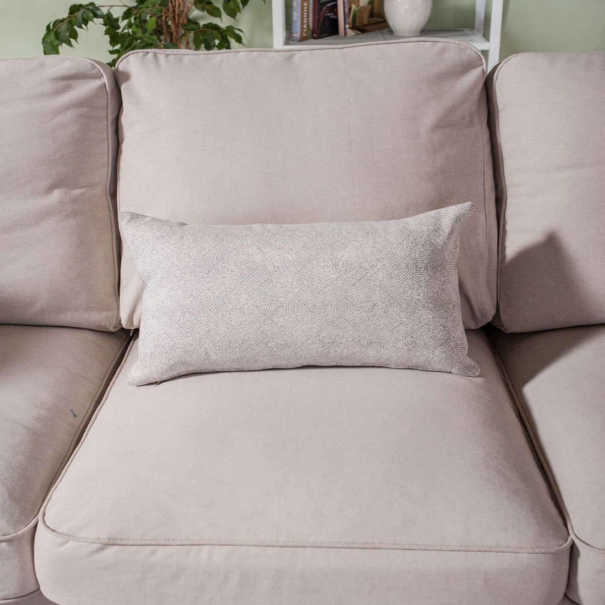 Μαξιλάρι Διακοσμητικό (Με Γέμιση) Mantova 04 Grey Teoran 30Χ50 Βαμβάκι-Polyester