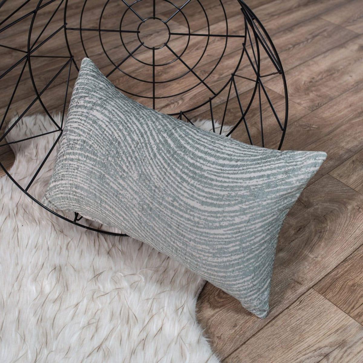 Μαξιλάρι Διακοσμητικό (Με Γέμιση) Oregon 04 Grey Teoran 30Χ50 Ακρυλικό-Polyester