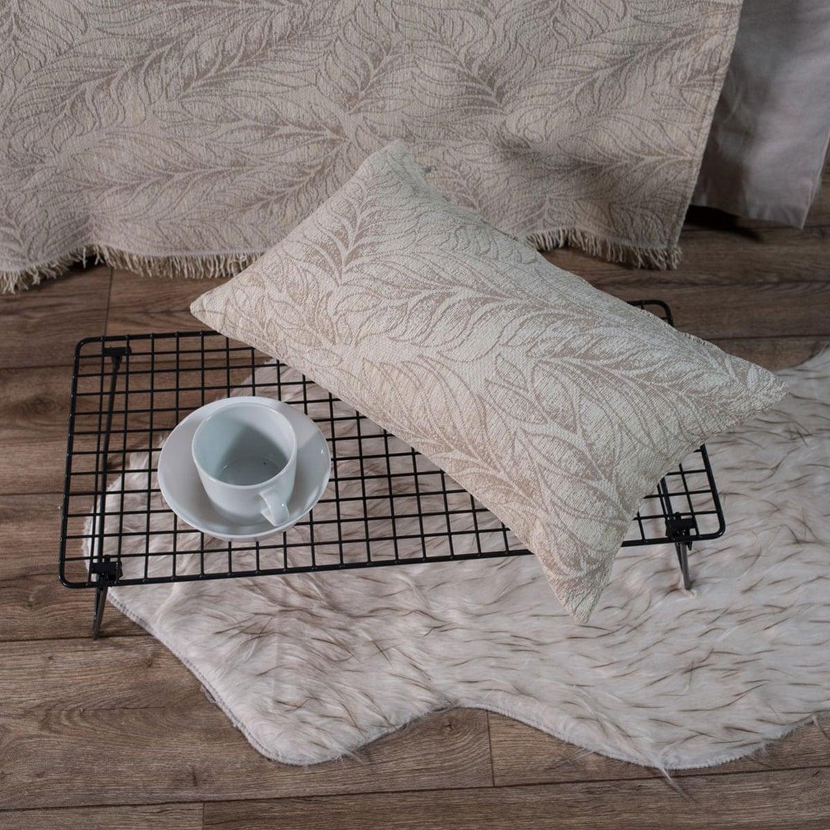 Μαξιλάρι Διακοσμητικό (Με Γέμιση) Illinois 01 Ecru Teoran 30Χ50 Ακρυλικό-Polyester