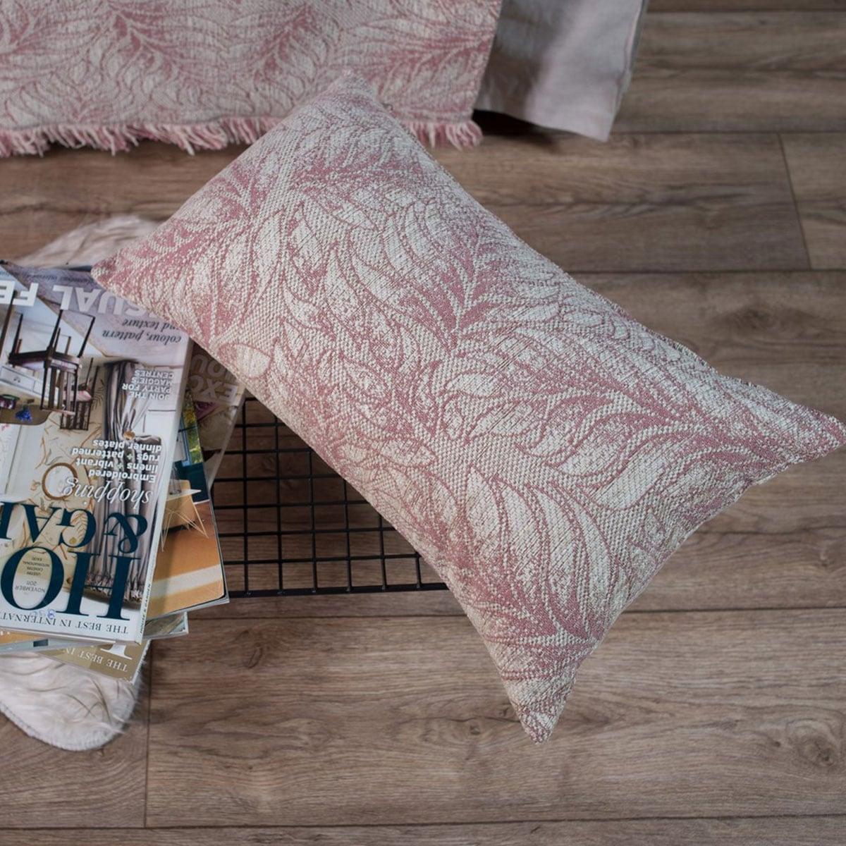 Μαξιλάρι Διακοσμητικό (Με Γέμιση) Illinois 12 Rose Teoran 30Χ50 Ακρυλικό-Polyester