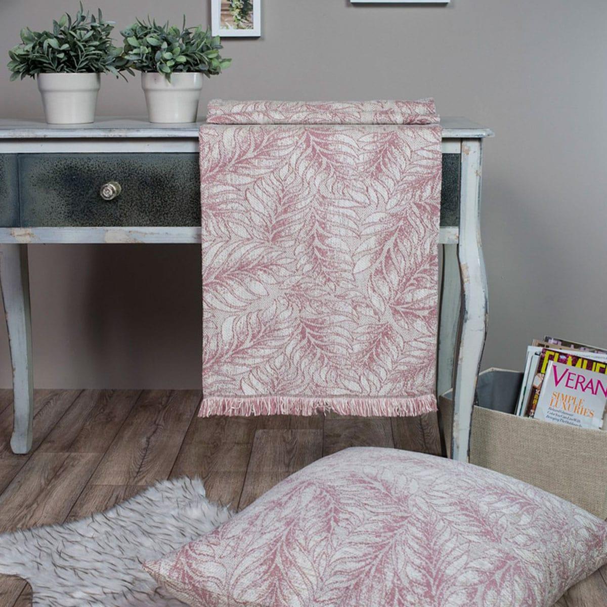 Μαξιλάρι Διακοσμητικό (Με Γέμιση) Δαπέδου Illinois 12 Rose Teoran 60X60 Ακρυλικό-Polyester