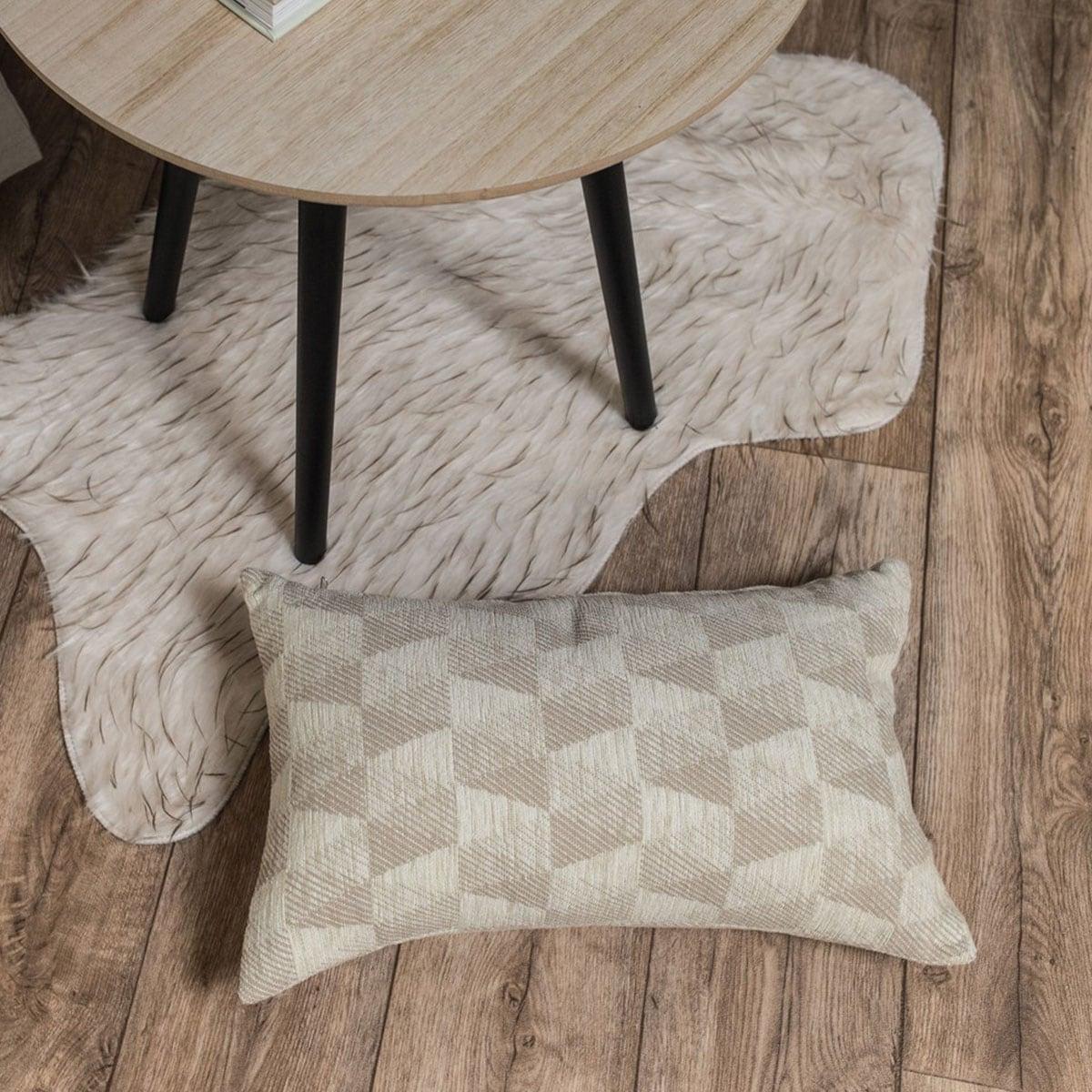 Μαξιλάρι Διακοσμητικό (Με Γέμιση) Memphis 01 Ecru Teoran 30Χ50 Ακρυλικό-Polyester