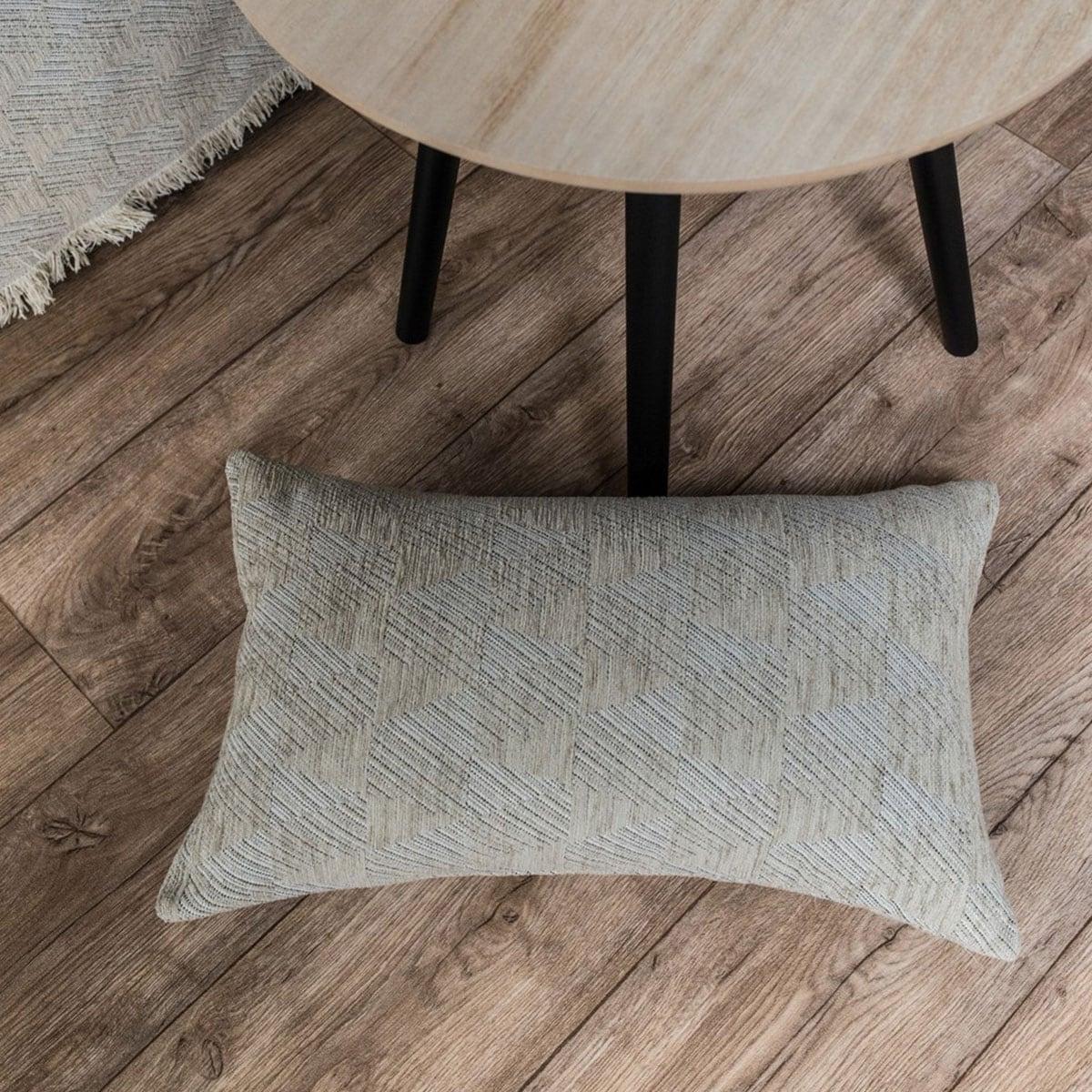 Μαξιλάρι Διακοσμητικό (Με Γέμιση) Memphis 07 Sand Teoran 30Χ50 Ακρυλικό-Polyester