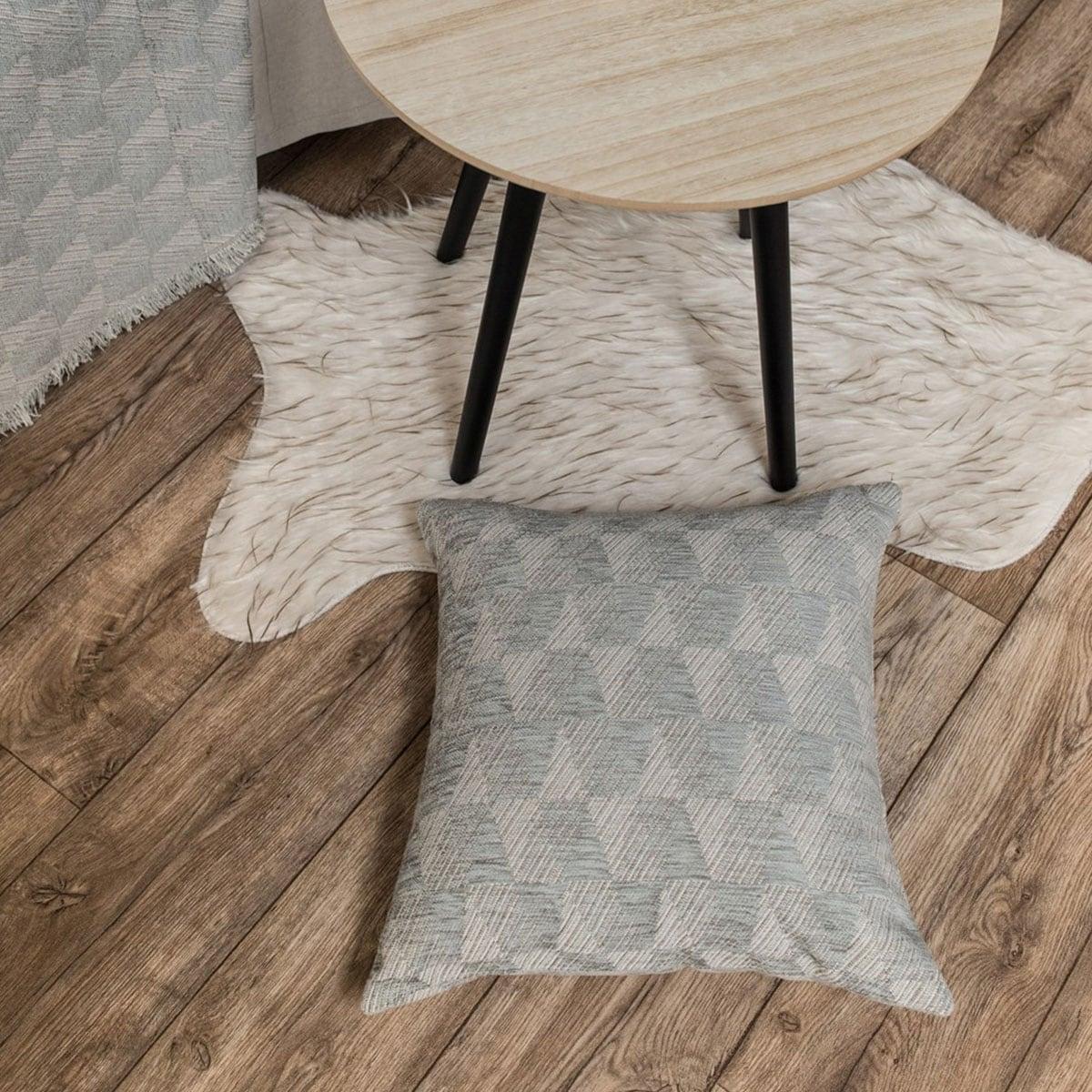 Μαξιλάρι Διακοσμητικό (Με Γέμιση) Memphis 11 Grey Teoran 45X45 Ακρυλικό-Polyester