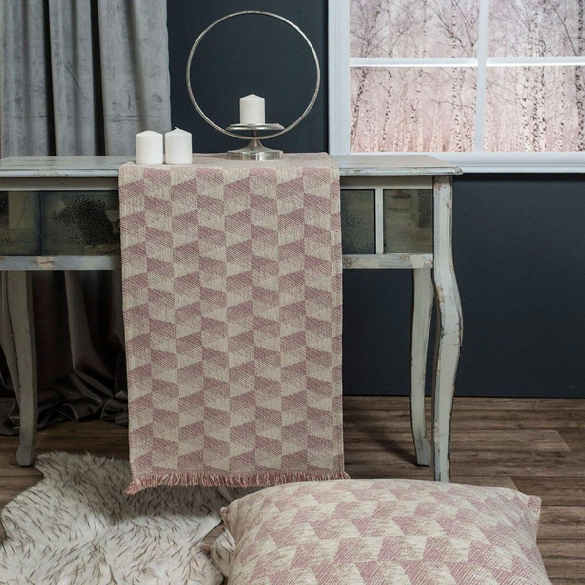 Μαξιλάρι Διακοσμητικό (Με Γέμιση) Δαπέδου Memphis 12 Rose Teoran 60X60 Ακρυλικό-Polyester