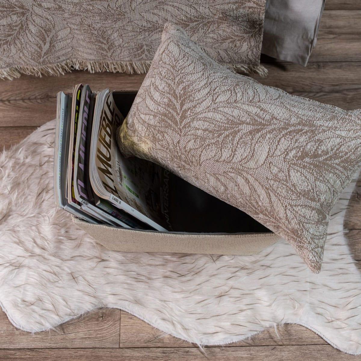 Μαξιλαροθήκη Διακοσμητική Illinois 02 Beige Teoran 30Χ50 Ακρυλικό-Polyester