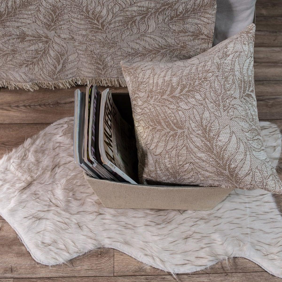 Μαξιλαροθήκη Διακοσμητική Illinois 02 Beige Teoran 45X45 Ακρυλικό-Polyester