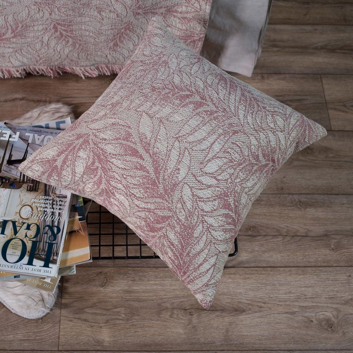 Μαξιλαροθήκη Διακοσμητική Illinois 12 Rose Teoran 45X45 Ακρυλικό-Polyester