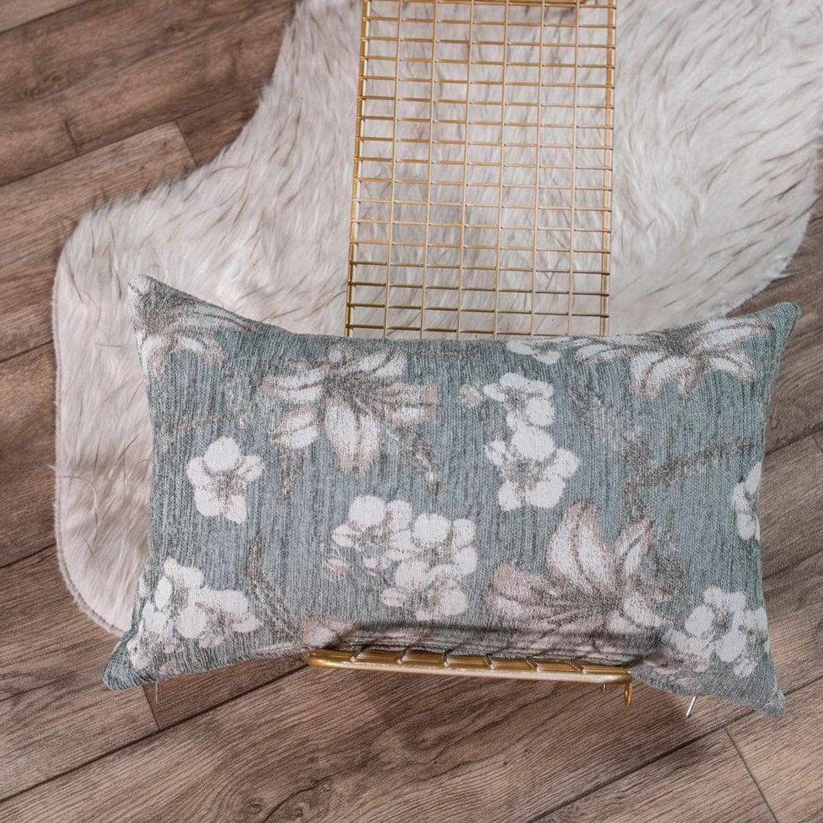 Μαξιλαροθήκη Διακοσμητική Louisiana 04 Grey Teoran 30Χ50 Ακρυλικό-Polyester