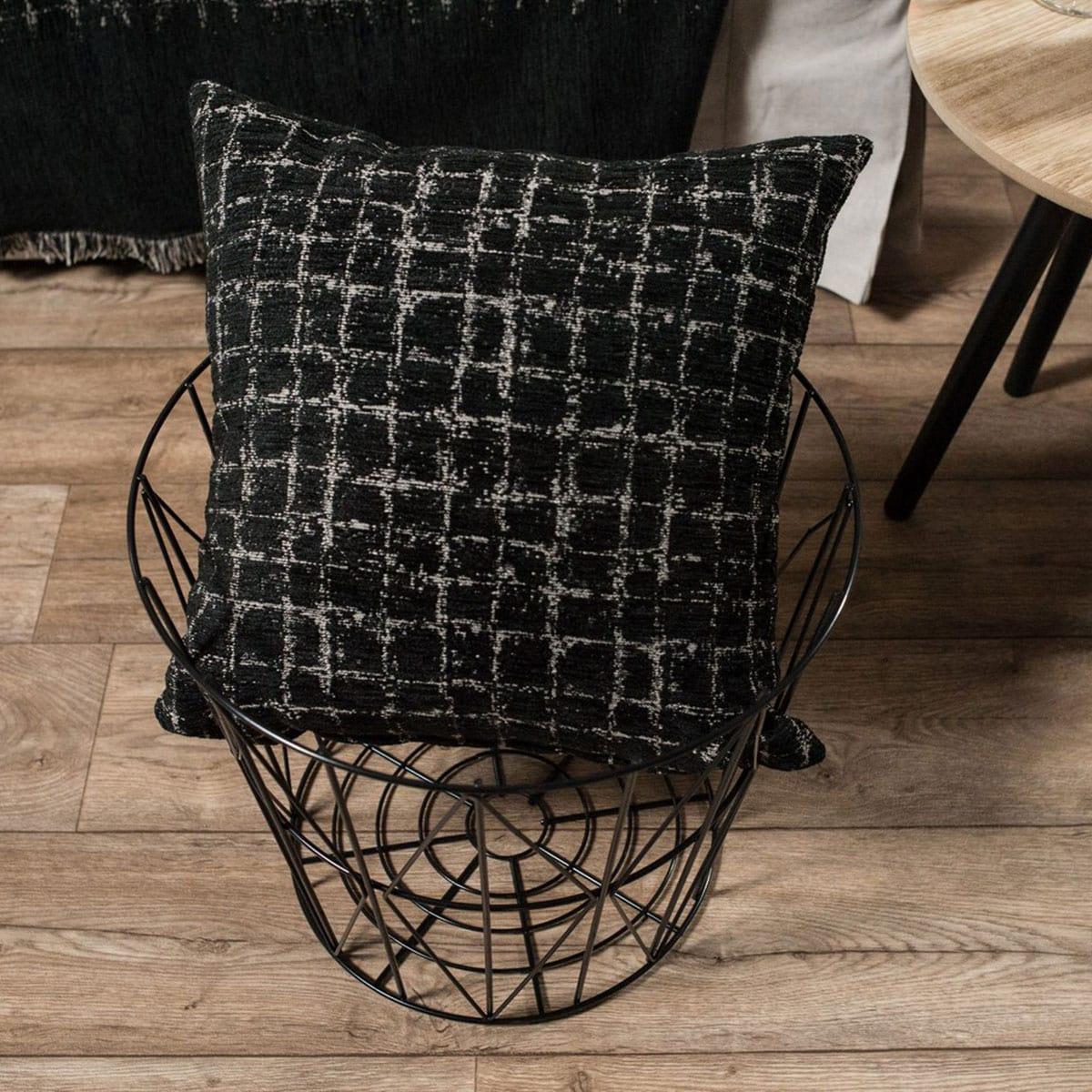 Μαξιλαροθήκη Διακοσμητική Phoenix 09 Black Teoran 45X45 Ακρυλικό-Polyester