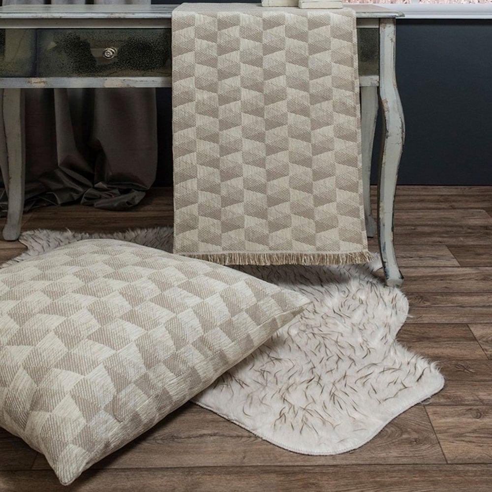 Μαξιλαροθήκη Διακοσμητική Δαπέδου Memphis 01 Ecru Teoran 60X60 Ακρυλικό-Polyester