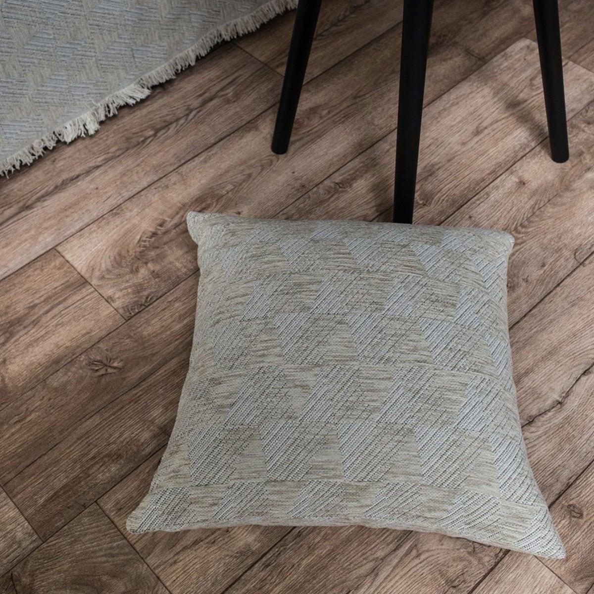 Μαξιλαροθήκη Διακοσμητική Δαπέδου Memphis 07 Sand Teoran 60X60 Ακρυλικό-Polyester