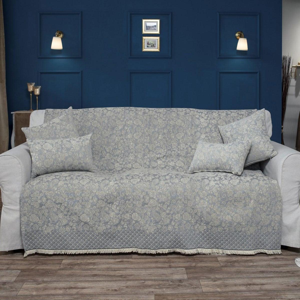 Ριχτάρι Tennessee 04 Grey Teoran Πολυθρόνα 180x150cm