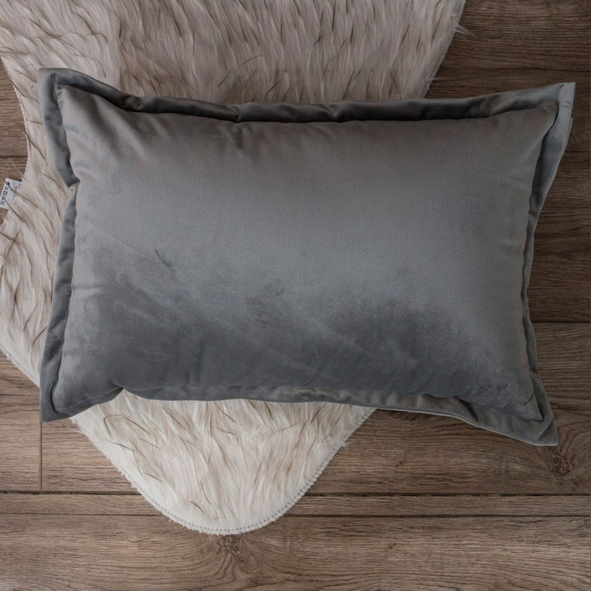 Μαξιλαροθήκη Διακοσμητική Velvet 11 Silver Teoran 30Χ50 100% Ακρυλικό