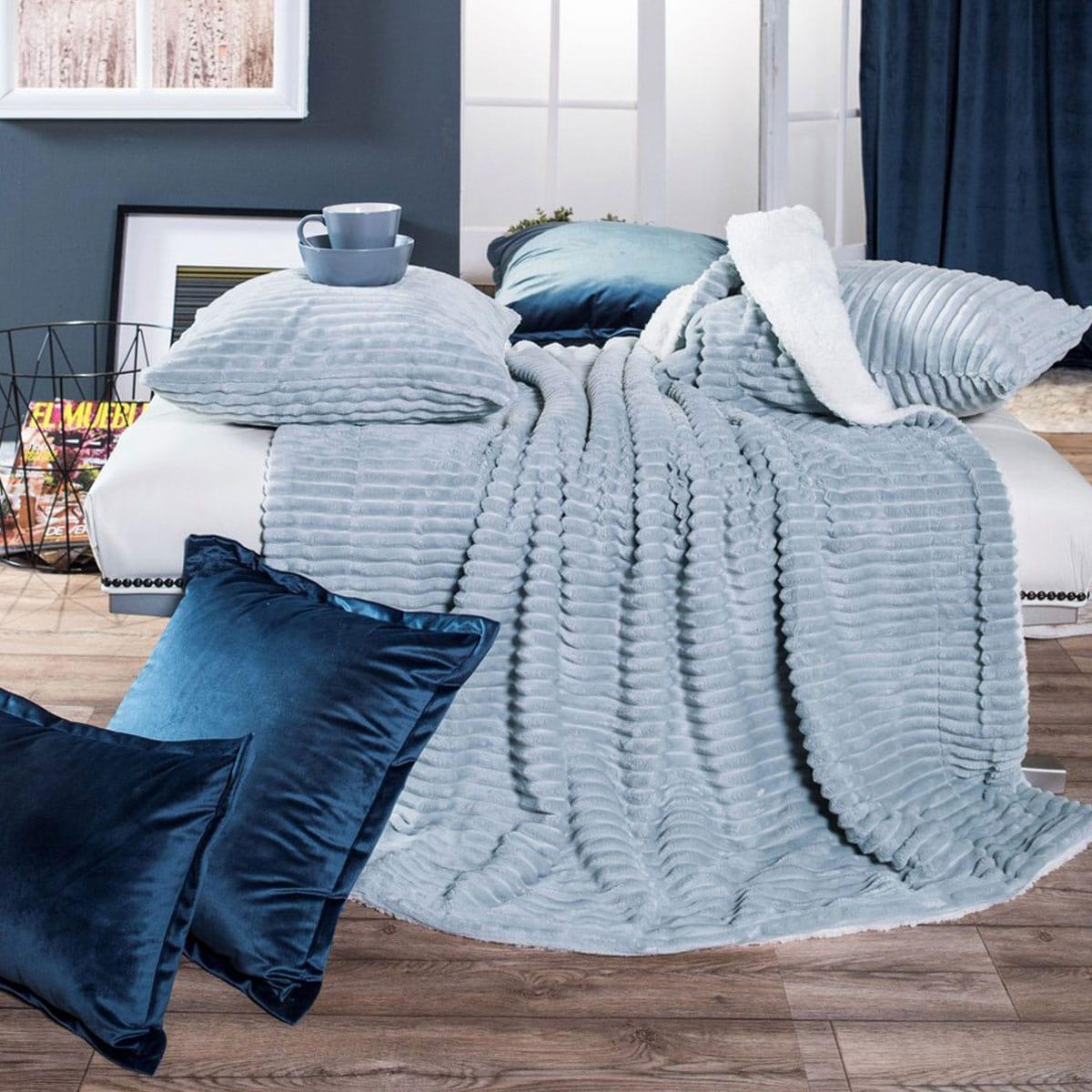 Κουβέρτα Καναπέ Pop Stripe 04 Ciel Teoran 150X180 130x160cm