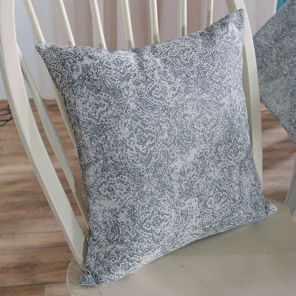 Μαξιλαροθήκη Διακοσμητική Ravenna 04 Grey Teoran 45X45 Ακρυλικό-Polyester