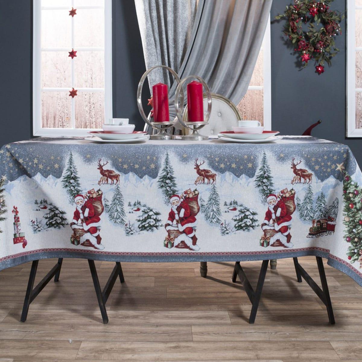 Τραπεζομάντηλο Χριστουγεννιάτικο Laponia Multi Teoran 150X200 140x220cm