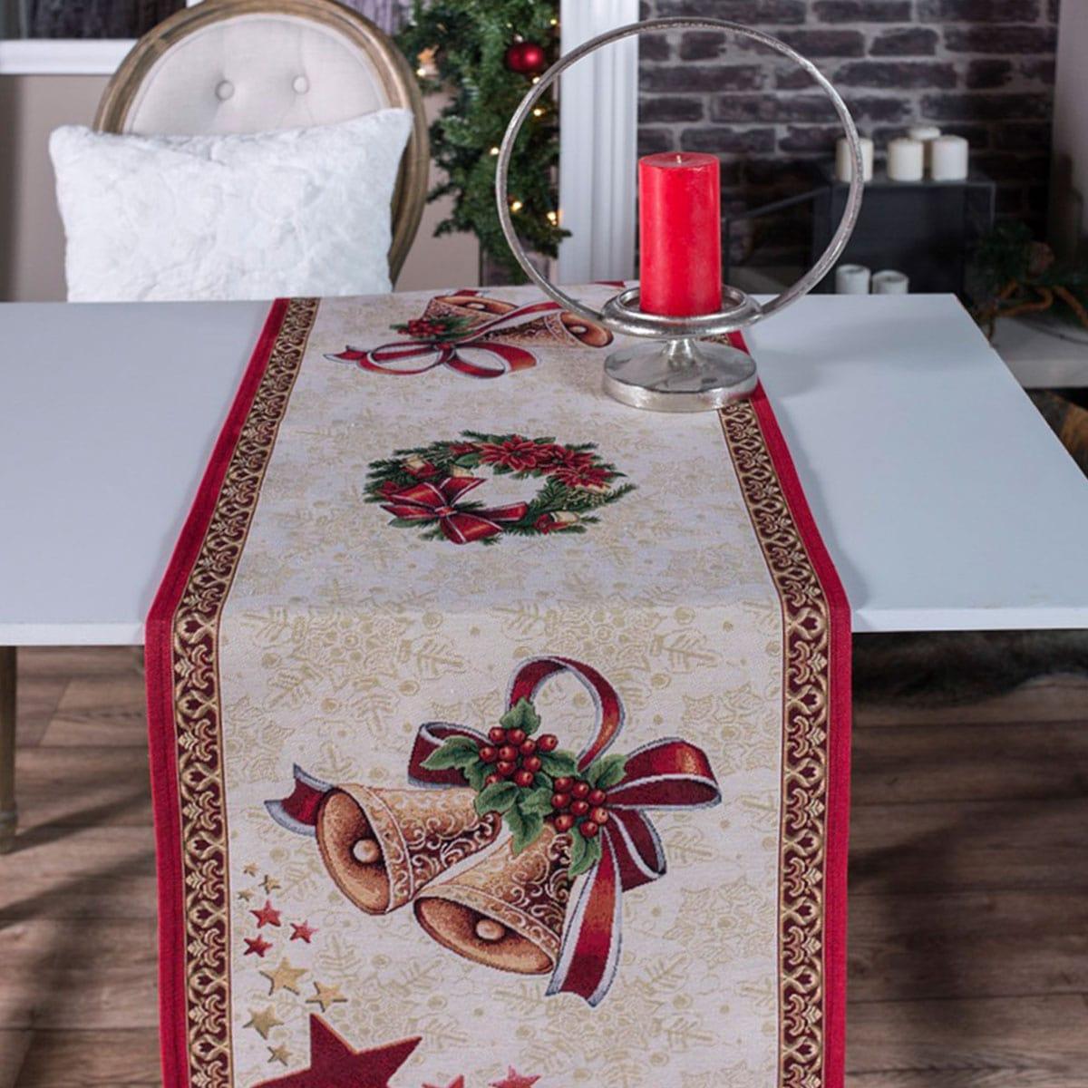 Τραβέρσα Χριστουγεννιάτικη Festive Multi Teoran 40Χ150 45x140cm
