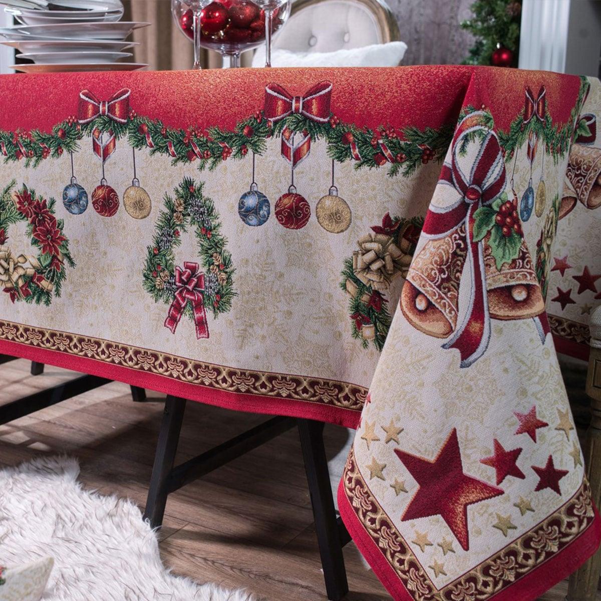 Τραπεζομάντηλο Χριστουγεννιάτικο Festive Multi Teoran 150X200 140x180cm