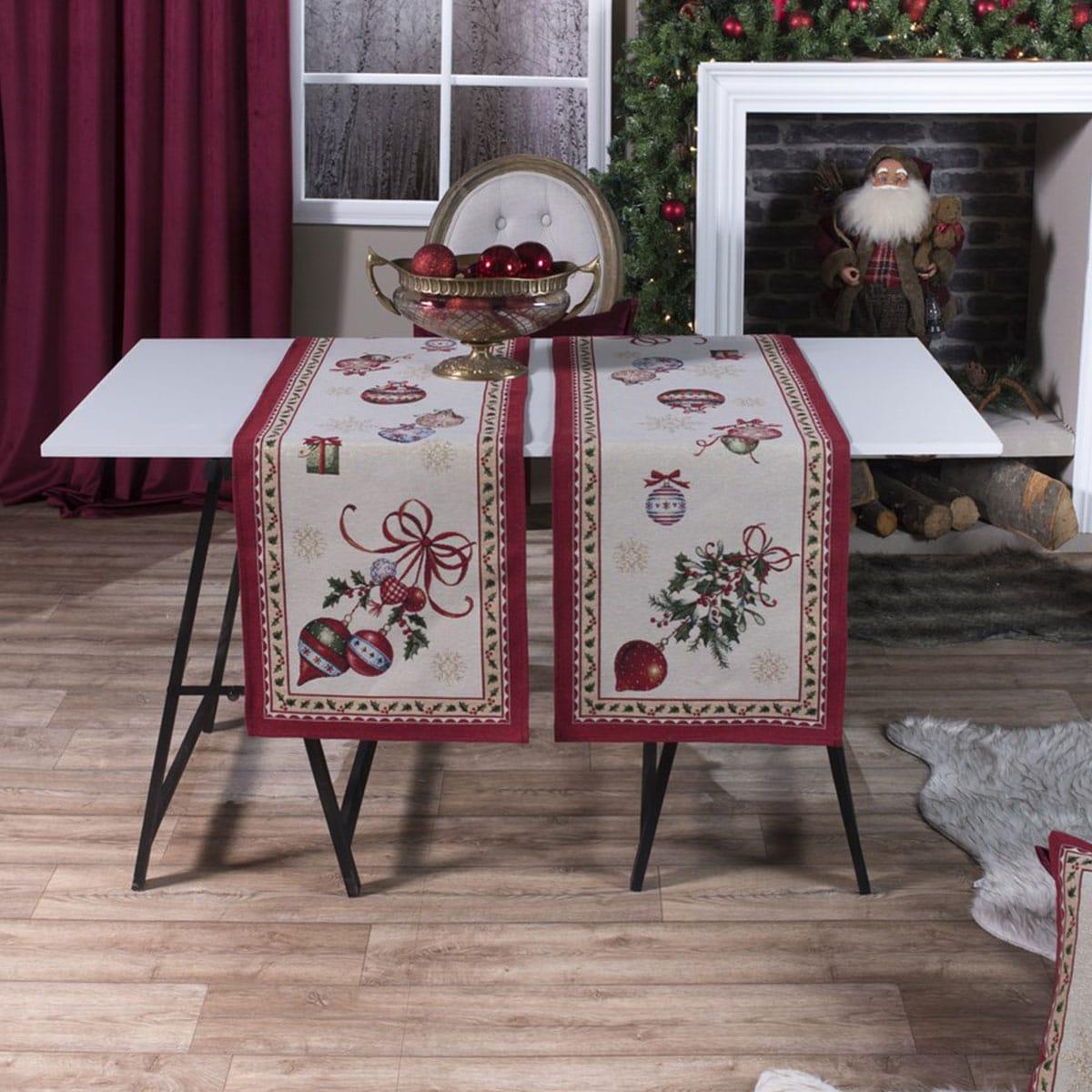 Τραβέρσα Χριστουγεννιάτικη Noel Multi Teoran 40Χ150 45x140cm