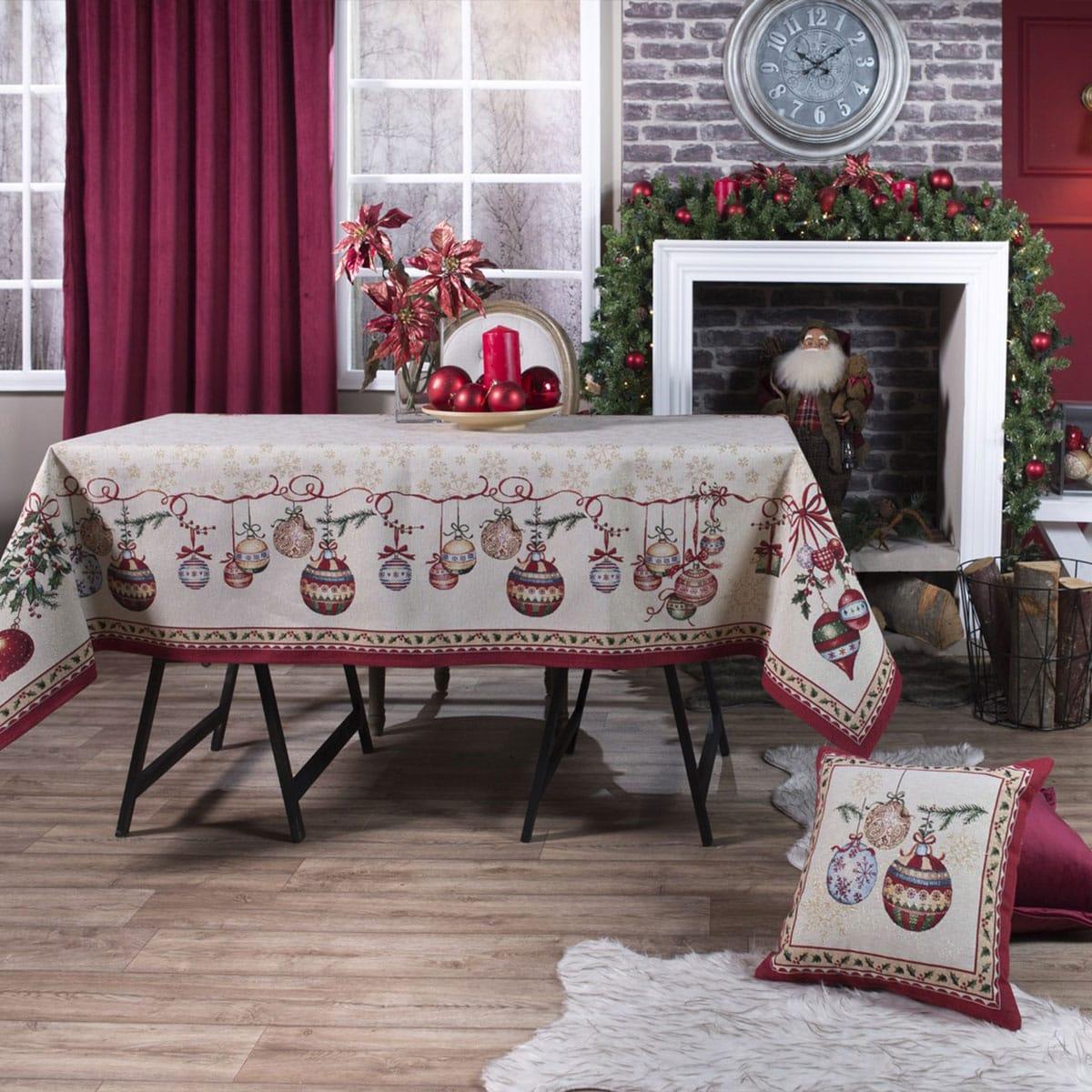 Τραπεζομάντηλο Χριστουγεννιάτικο Noel Multi Teoran 150X200 140x180cm