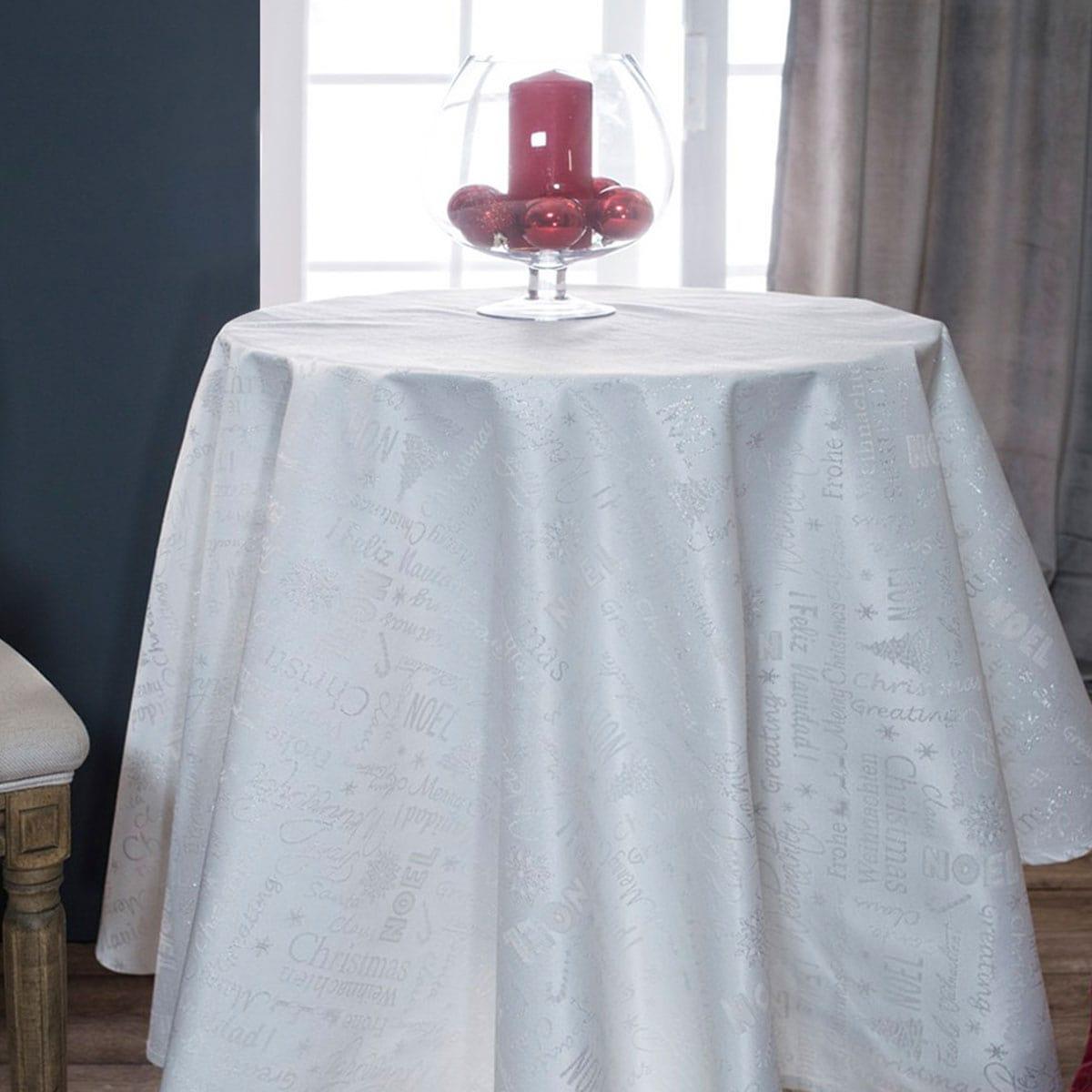 Ροτόντα Χριστουγεννιάτικη Frozen Silver Teoran Διάμετρος 180cm Φ180