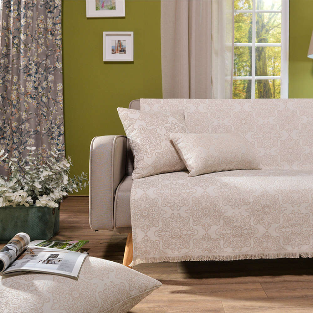 Μαξιλαροθήκη Διακοσμητική Δαπέδου Perugia 01 Ecru Teoran 60X60 Βαμβάκι-Polyester