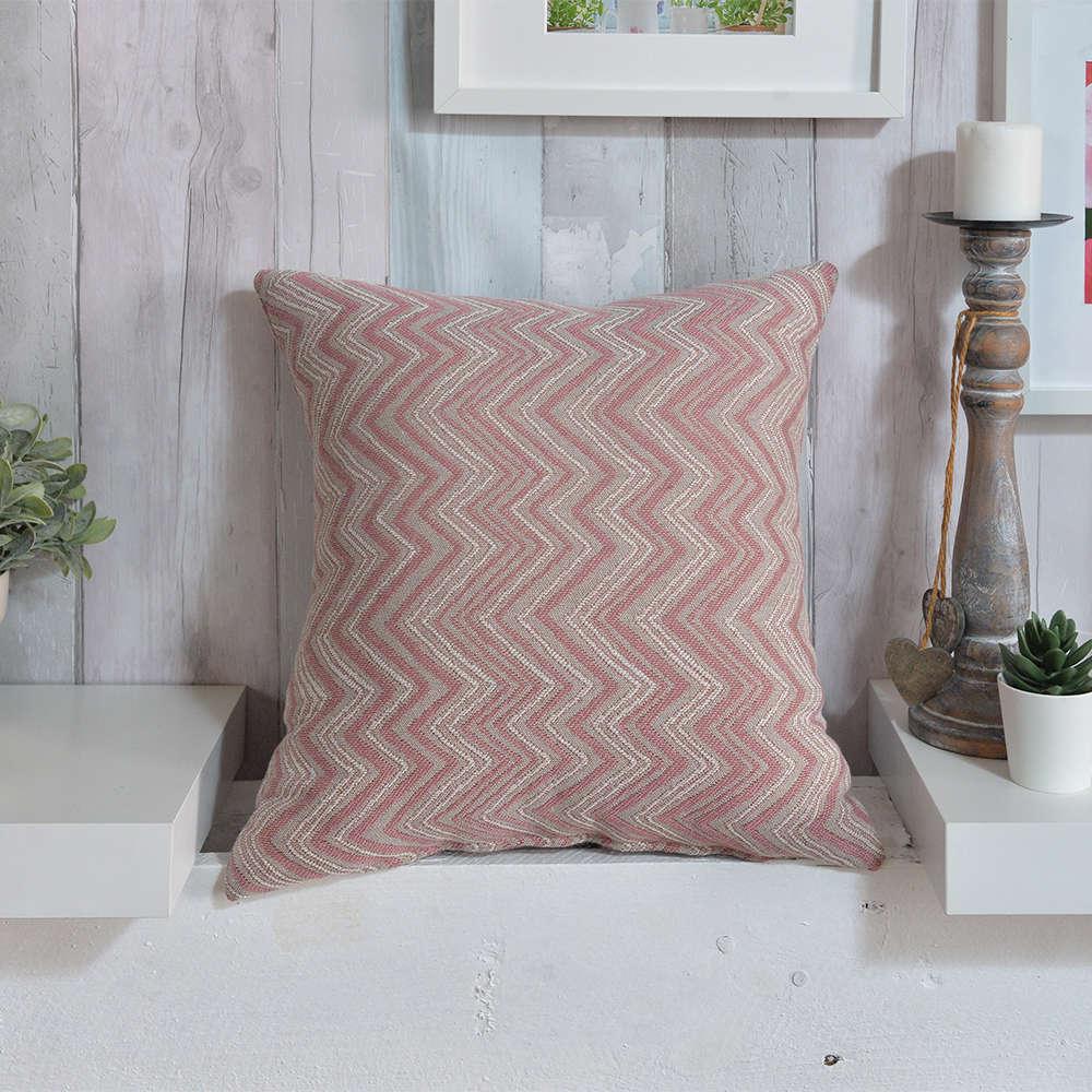 Μαξιλάρι Διακοσμητικό (Με Γέμιση) Calabria 06 Pink Teoran 45X45 Βαμβάκι-Polyester