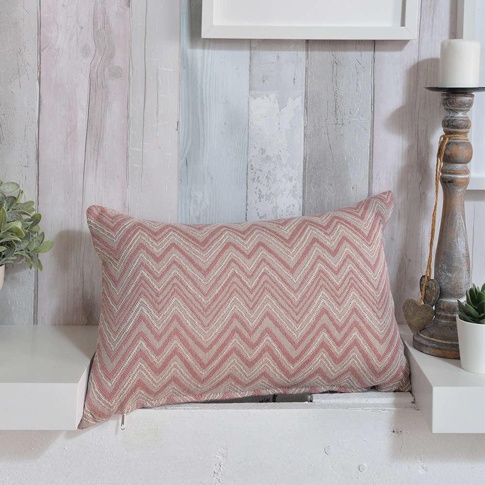 Μαξιλαροθήκη Διακοσμητική Calabria 06 Pink Teoran 30Χ50 Βαμβάκι-Polyester