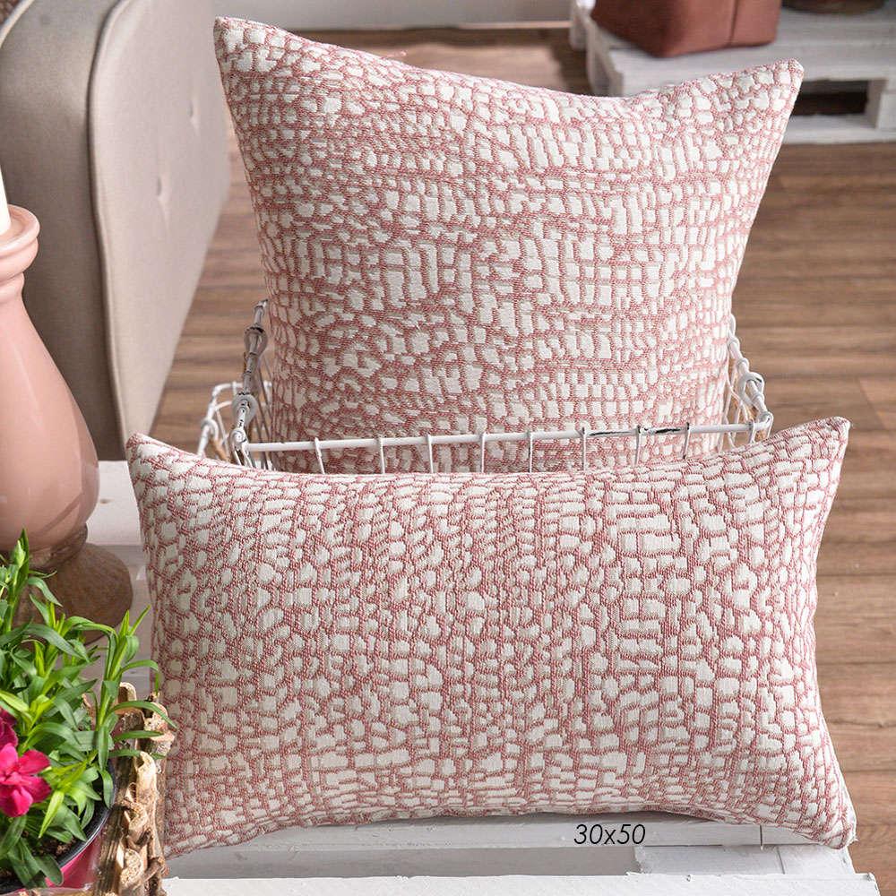 Μαξιλάρι Διακοσμητικό (Με Γέμιση) Modena 06 Pink Teoran 30Χ50 Βαμβάκι-Polyester