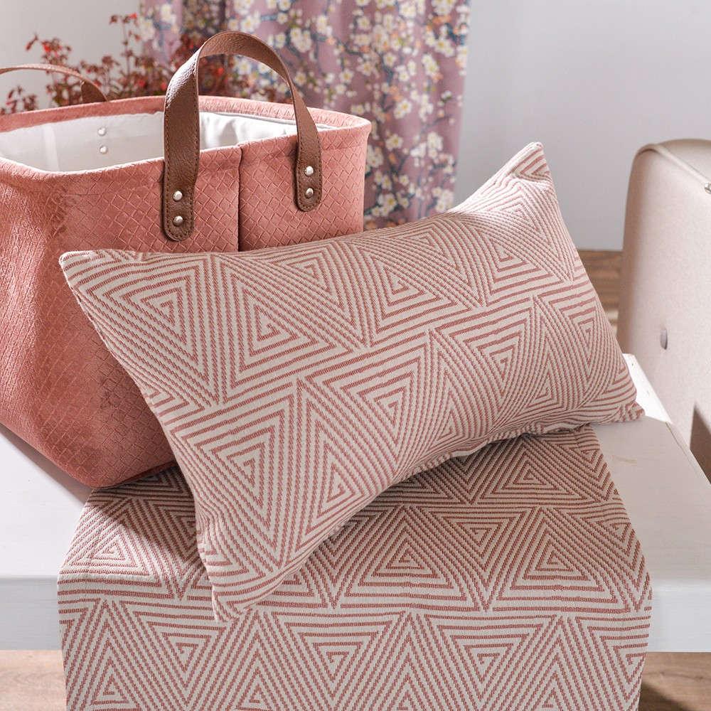 Μαξιλαροθήκη Διακοσμητική Como 06 Pink Teoran 30Χ50 Βαμβάκι-Polyester