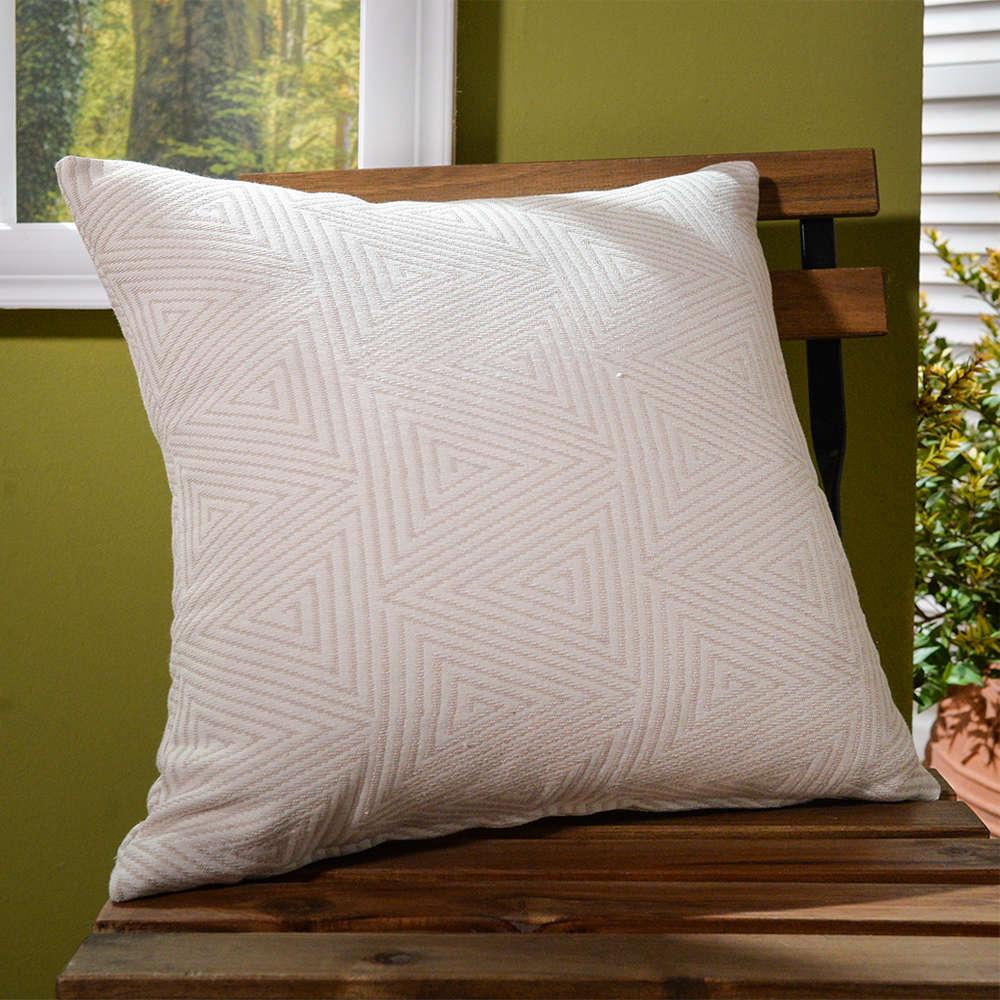 Μαξιλάρι Διακοσμητικό Δαπέδου (Με Γέμιση) Como 01 Ecru Teoran 60X60 Βαμβάκι-Polyester