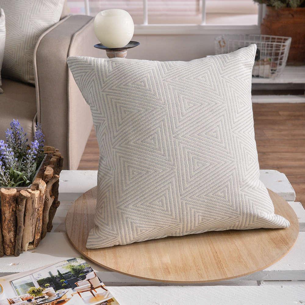Μαξιλάρι Διακοσμητικό Δαπέδου (Με Γέμιση) Como 04 Grey Teoran 60X60 Βαμβάκι-Polyester