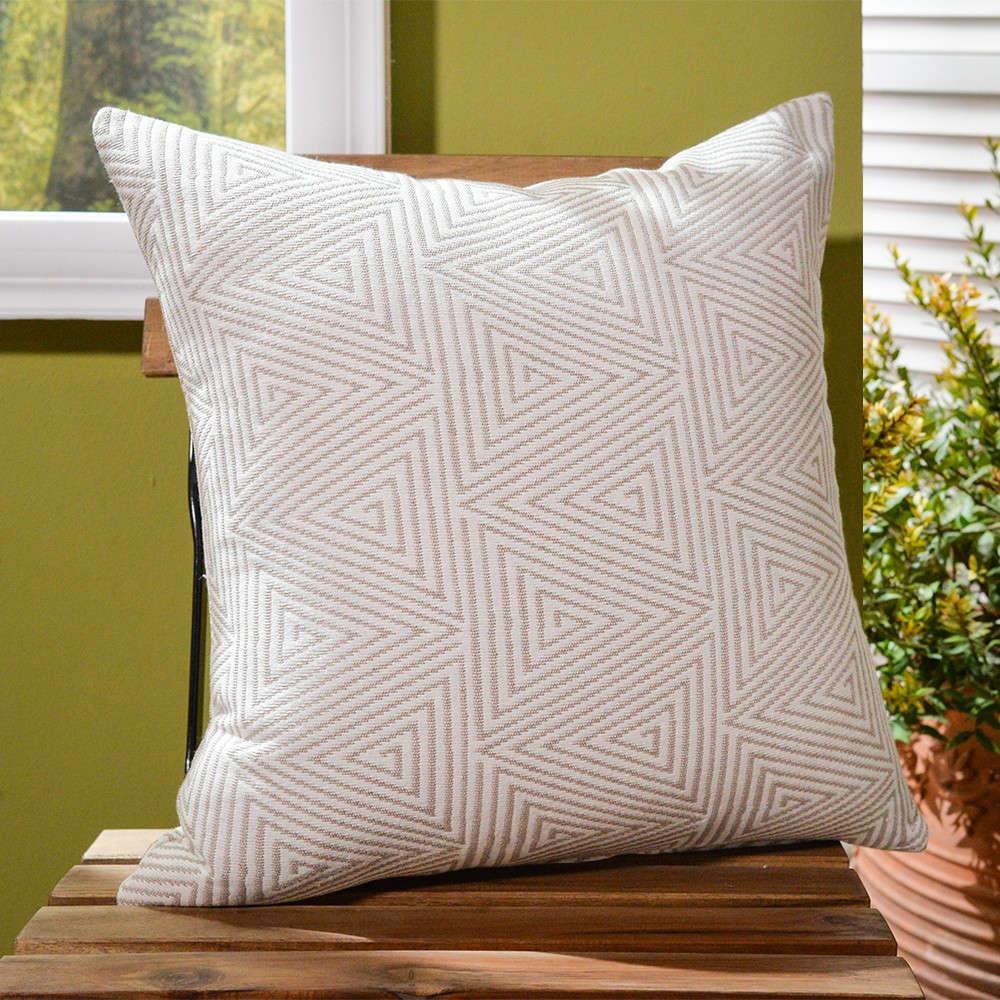 Μαξιλαροθήκη Διακοσμητική Δαπέδου Como 02 Beige Teoran 60X60 Βαμβάκι-Polyester