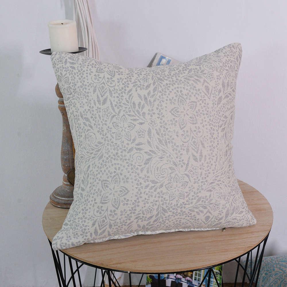 Μαξιλαροθήκη Διακοσμητική Macerata 04 Grey Teoran 45X45 Βαμβάκι-Polyester