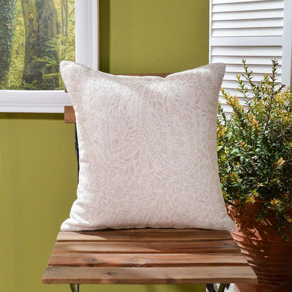 Μαξιλάρι Διακοσμητικό Δαπέδου (Με Γέμιση) Macerata 01 Ecru Teoran 60X60 Βαμβάκι-Polyester