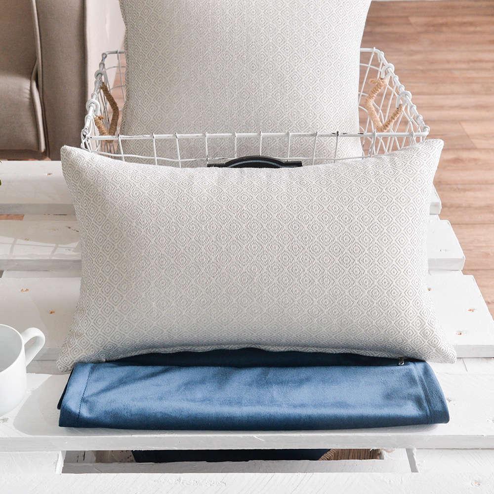 Μαξιλαροθήκη Διακοσμητική Pescara 04 Grey Teoran 30Χ50 Βαμβάκι-Polyester
